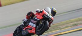 Chaz Davies, intouchable sur la piste du MotorLand. (Photo : Ducati)