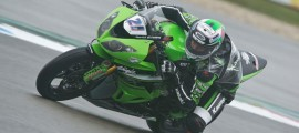 Randy Krummenacher, en pole à Assen. (Photo : Kawasaki)