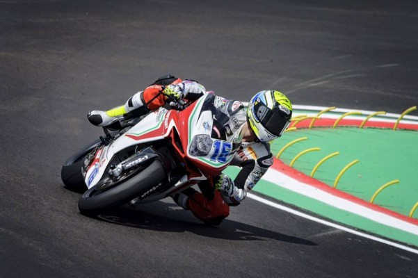 Jules Cluzel place la MV Agusta en tête à Imola (Photo : Jules Cluzel)