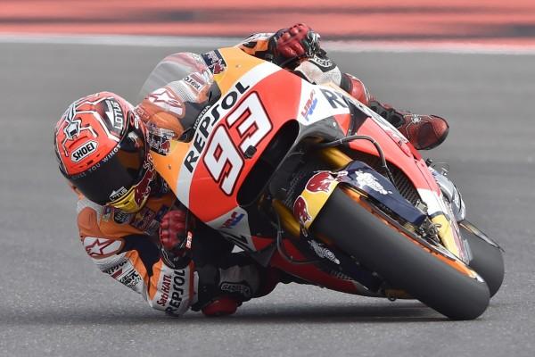 Marquez signe sa 25e victoire. Il rejoint le club très fermé de Rossi, Lorenzo, Stoner et Pedrosa. (Photo : Honda)