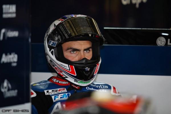 Loris Baz a souffert aujourd'hui au Mans.