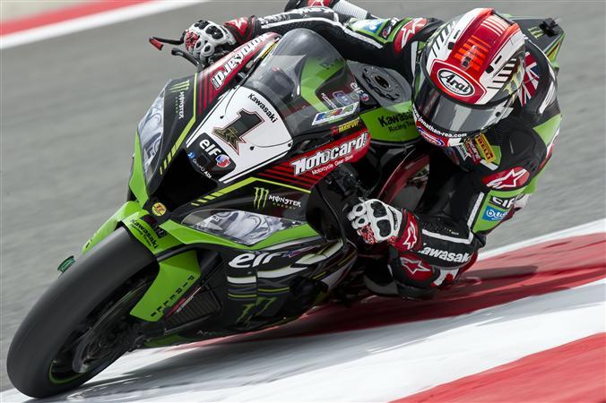 Jonathan Rea s'impose à Misano Adriatico lors de la première course Superbike du week-end. (Photo : KRT)