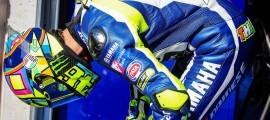 Valentino Rossi s'est intercalé entre les deux Ducati.
