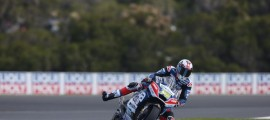 Loris Baz contraint à l'abandon à Phillip Island. (Photo : Avintia Racing)