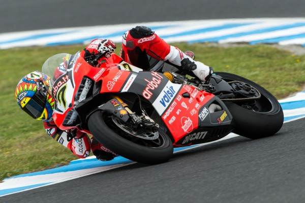 Chaz Davies s'impose vendredi. (Photo : Ducati)