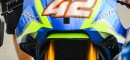 Le carénage aérodynamique de la GSX-RR. (Photo : Christian Bourget / Sports Images)