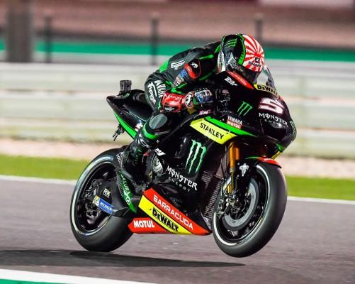 Johann Zarco en deuxième ligne de la grille de départ. (Photo : Yamaha Racing)