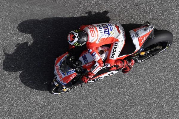 Jorge Lorenzo a revu sa position de pilotage depuis la GP d'Argentine. (Photo : Ducati Team)