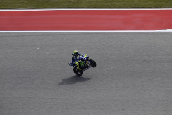 Valentino Rossi se rapproche de plus en plus. (Photo : Movistar Yamaha)