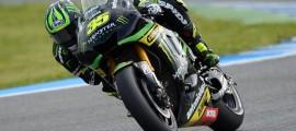 """Cal Crutchlow, impressionnant leader de ces essais IRTA à Jerez. Le style """"Stoner"""" doit aider... (source: Crash)"""