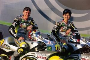 Olivier Jacque et Shinya Nakano au sein du Team Tech3