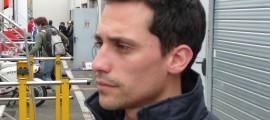 Alexis Masbou lors de l'interview, après sa séance qualificative du Samedi après-midi au Mans.