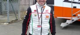 Roberto Locatelli dans les paddocks du circuit Bugatti du Mans, lors du GP de France 2013.