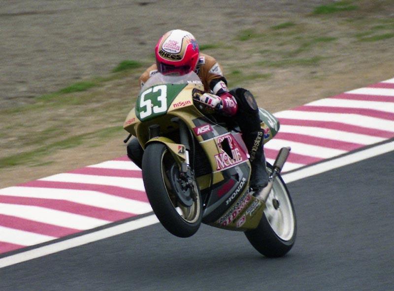 Nobuatsu Aoki lors du GP du Japon en 1992.