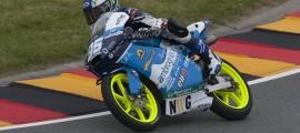 Une nouvelle moto, un nouveau circuit rendant l'apprentissage difficile pour Jules Danilo. (Photo : Ambrogio).