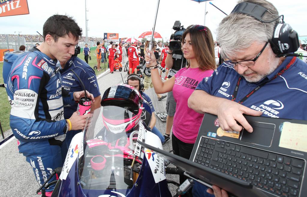 Malgré la sanction, Aleix Espargaro termine 2ème pilote CRT derrière Colin Edwards. (Photo : Aspar)