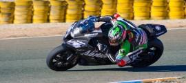 David Salom sur son EVO lors des essais Kawasaki à Almeria. (Photo : ©Cacciatori Emanuele)