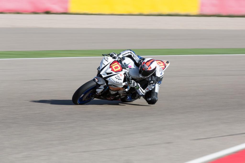Thibaut Gourin découvre pour la première fois le tracé du circuit d'Aragon. (Photo : ©DR)
