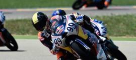 Enzo Boulom sur sa KTM numéro 99 lors des tests en Aragon il y a deux semaines. (Photo : Pavol Kecskes)