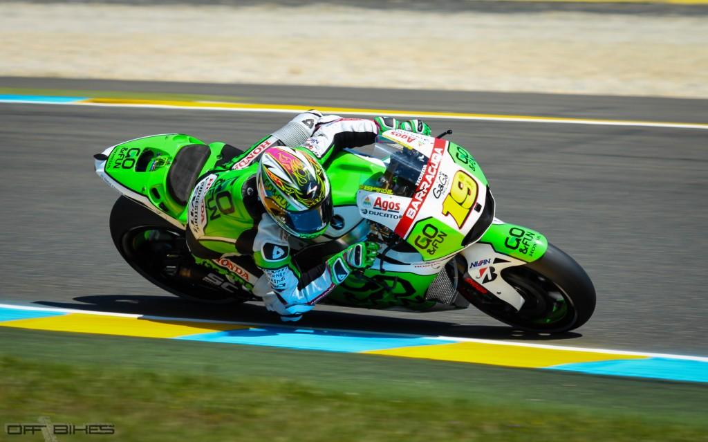 Après un début de saison difficile, Alvaro Bautista monte sur le podium pour la 3ème fois de sa carrière MotoGP. (Photo : Thomas/OffBikes)