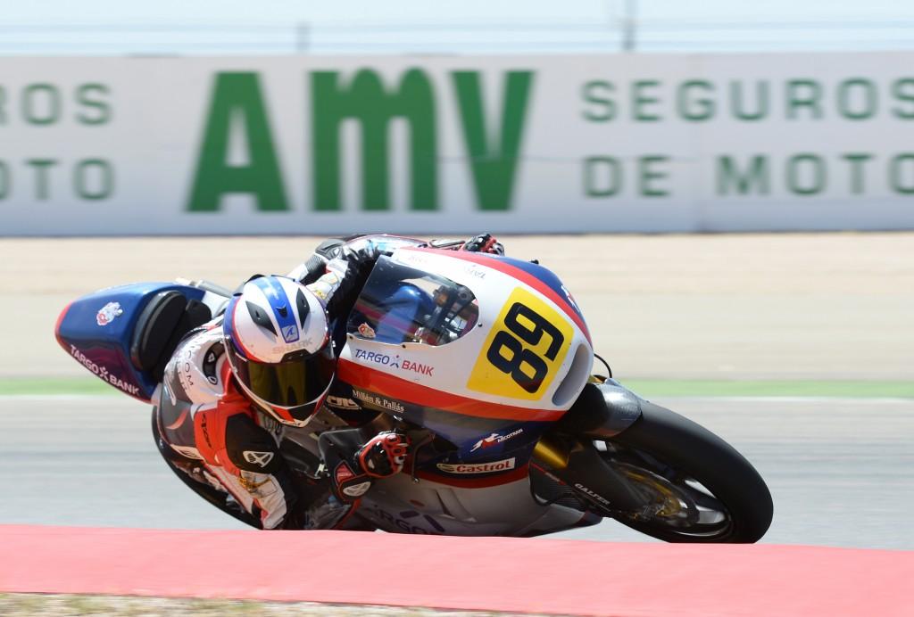 Le Français Alan Techer termine 2ème en première course, son deuxième podium de la saison. (Photo : ©CEV Repsol)