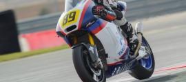 Alan Techer s'élancera depuis la pole position pour les deux courses Moto2 que contient l'épreuve à Navarra. (Photo : TargoBank)