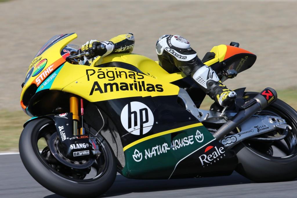 Maverick Viñales n'a rien pu faire face au rythme de Tom Luthi. (Photo : Pons Racing)