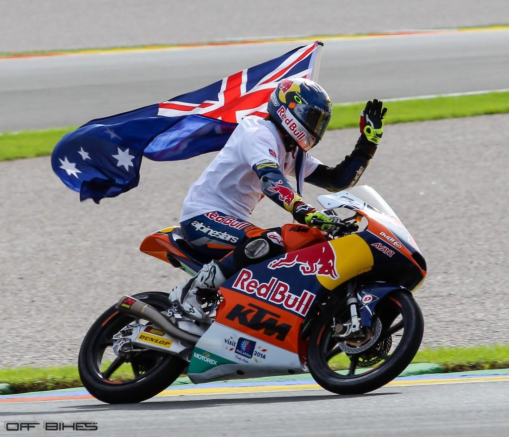 Jack Miller remporte la victoire. Demain il grimpera sur la Honda Open en MotoGP. (Photo : Tom/OffBikes)
