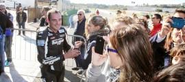 Thibaut Bertin, Champion Superstock 2014, dans le Parc Fermé à Valencia. (Photo : Thibaut Bertin)