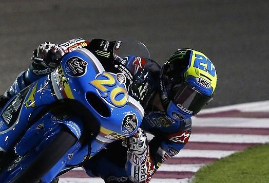Fabio Quartararo se place en deuxième ligne pour son premier Grand Prix. (Photo : Estrella)