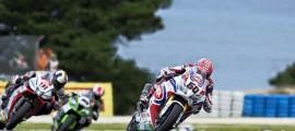 Michael van der Mark espère faire mieux sur un circuit qu'il affectionne. (Photo : PATA Honda WSBK)