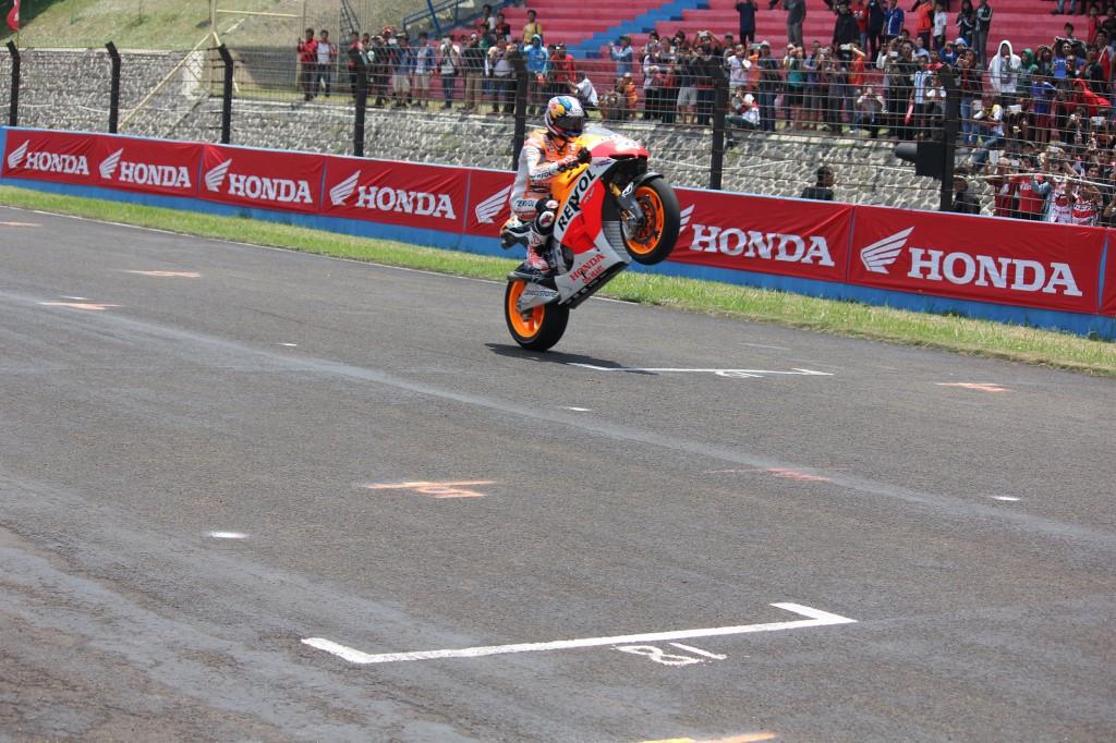Dani Pedrosa et Marc Marquez ont fait une apparition à Sentul la saison dernière. (Photo : Honda Repsol)