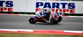 Lorenzo Baldassarri signe sa première victoire en GP. (Photo : Forward Racing).