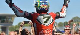 Chaz Davies, 4e doublé cette saison. (Photo : Ducati)